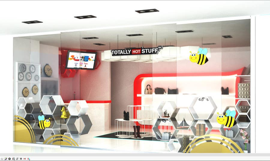 #10 for 3D Interior Design For A Novelty Lifestyle & Gifts Retailer Shop by Bacvu