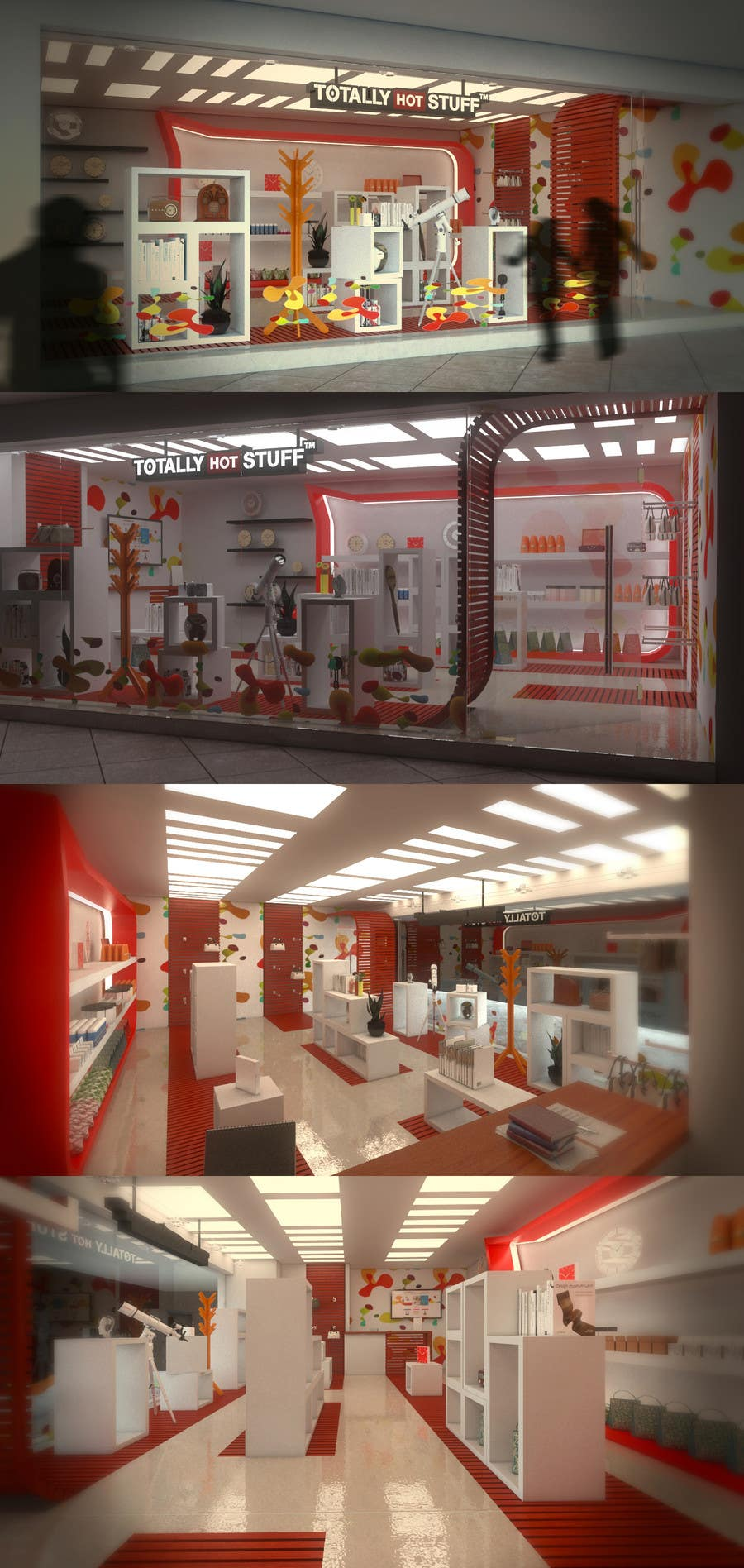 #6 for 3D Interior Design For A Novelty Lifestyle & Gifts Retailer Shop by EnzoVitali