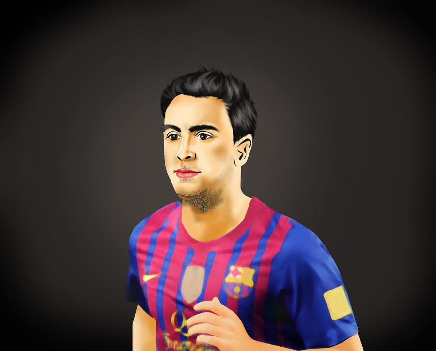 Proposition n°14 du concours Illustrations of 30 famous footballers