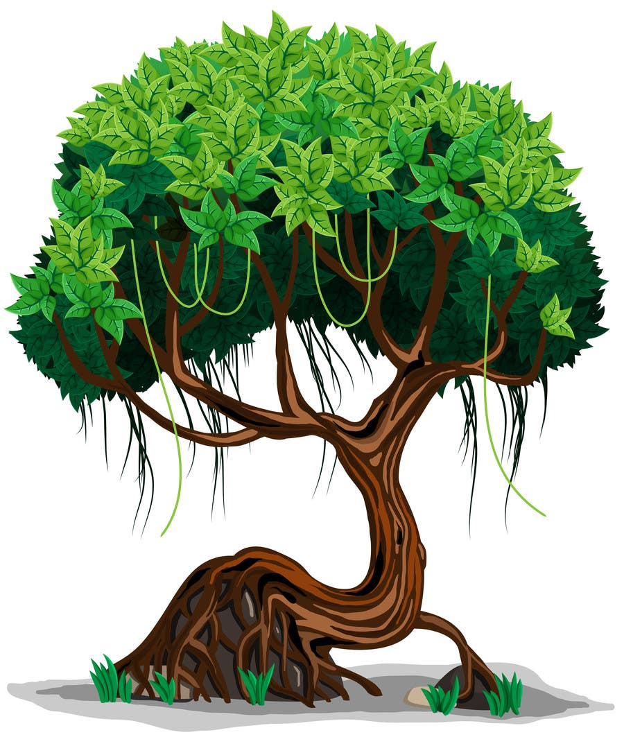 Cartoon style tree Jungle Tree | Caricature & Cartoons | Graphic ...