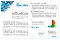 Brochure Design for Exomi contest winner