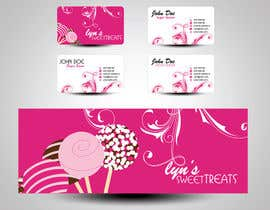 mamem tarafından Business Card & Facebook Banner for Lyn's Sweet Treats için no 121