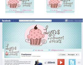 #61 para Business Card & Facebook Banner for Lyn's Sweet Treats por holecreative