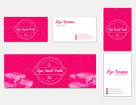 Creart41 tarafından Business Card & Facebook Banner for Lyn's Sweet Treats için no 128