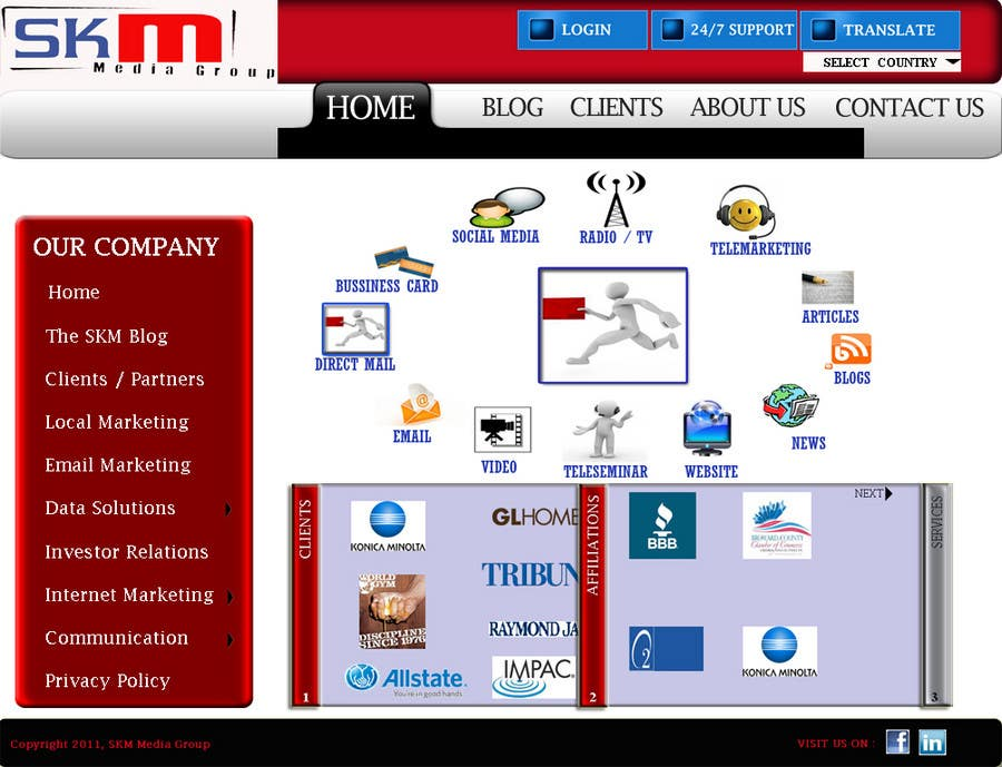 Конкурсная заявка №55 для Website Design for www.skmmediagroup.com