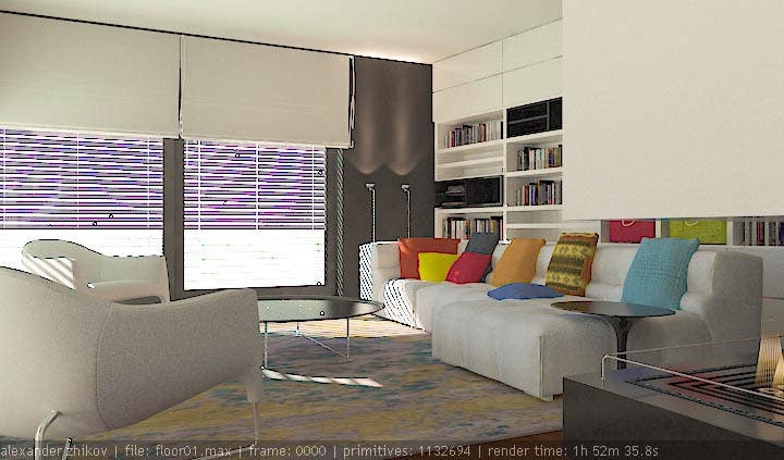 #14 for Interior design for living room and dining room by alek7000