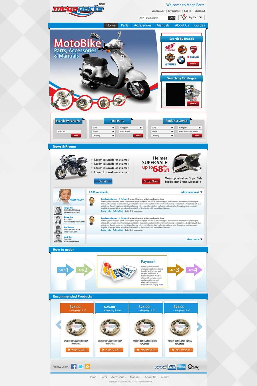 #15 for Design a Website Mockup for megaparts.com by grafixeu