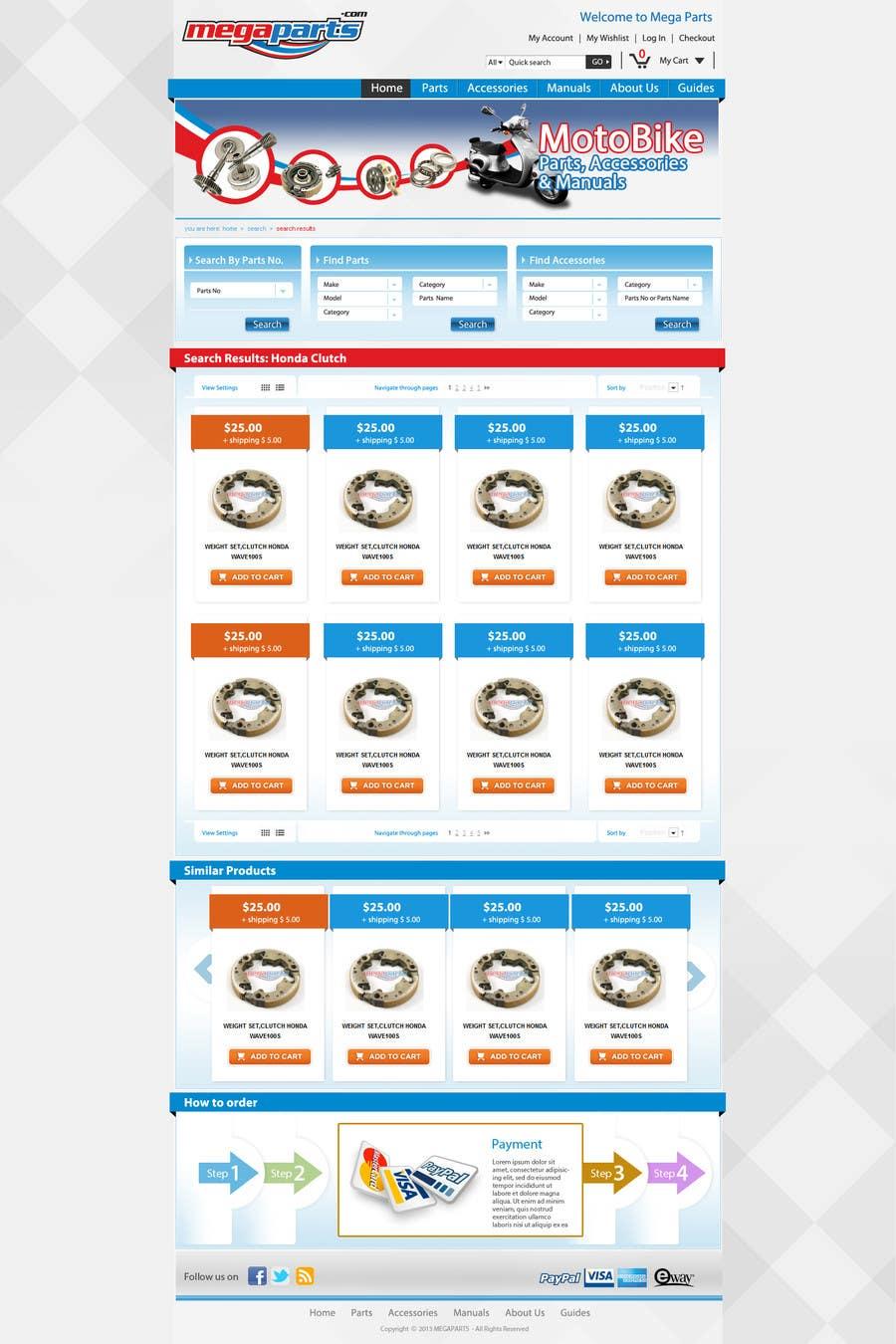 #19 for Design a Website Mockup for megaparts.com by grafixeu