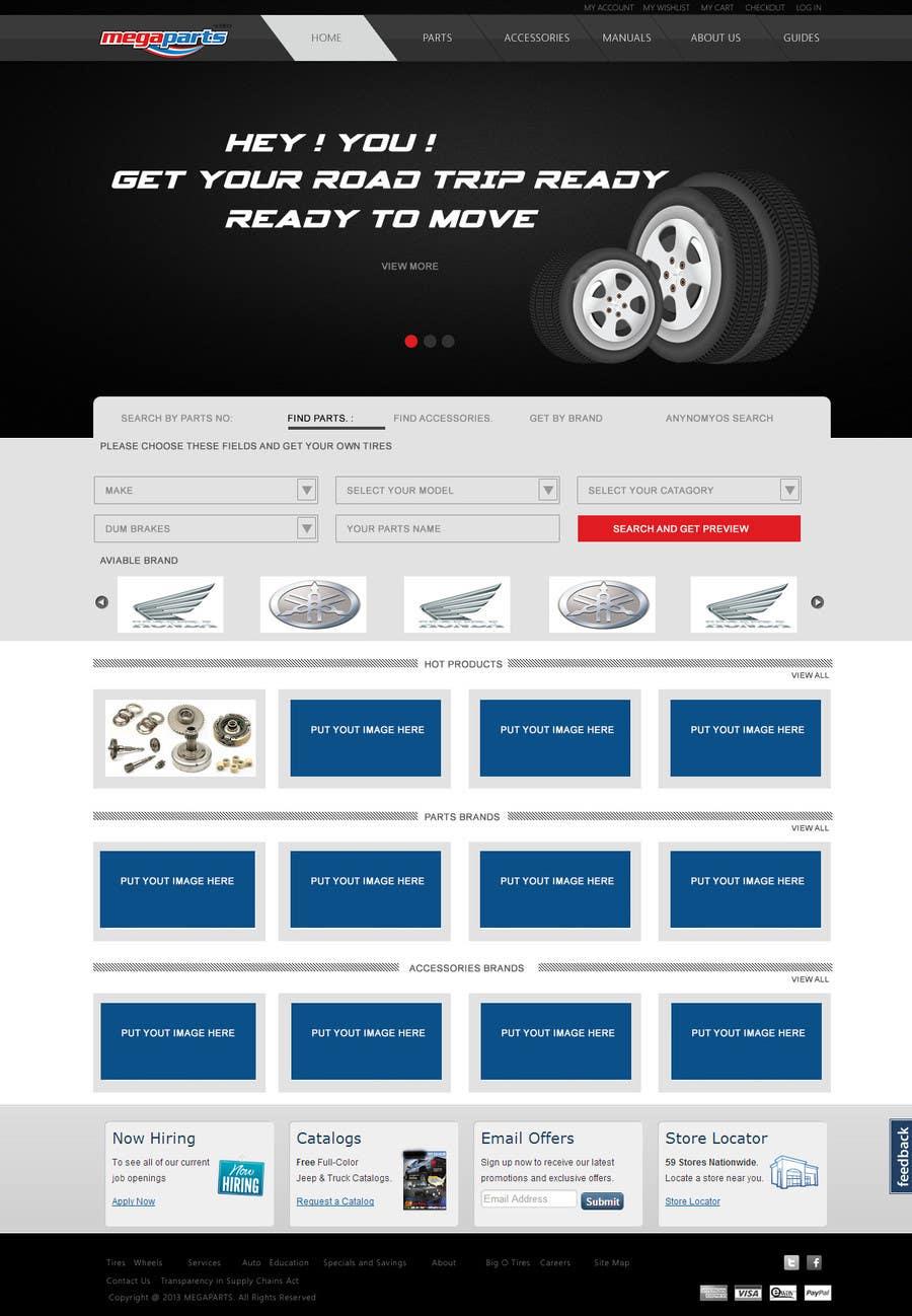 #10 for Design a Website Mockup for megaparts.com by shankardesigner