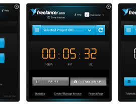 #69 para New Design for the Freelancer.com TimeTracker App por gaf001