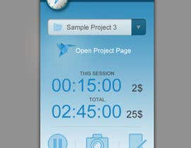 #57 para New Design for the Freelancer.com TimeTracker App por PereViki