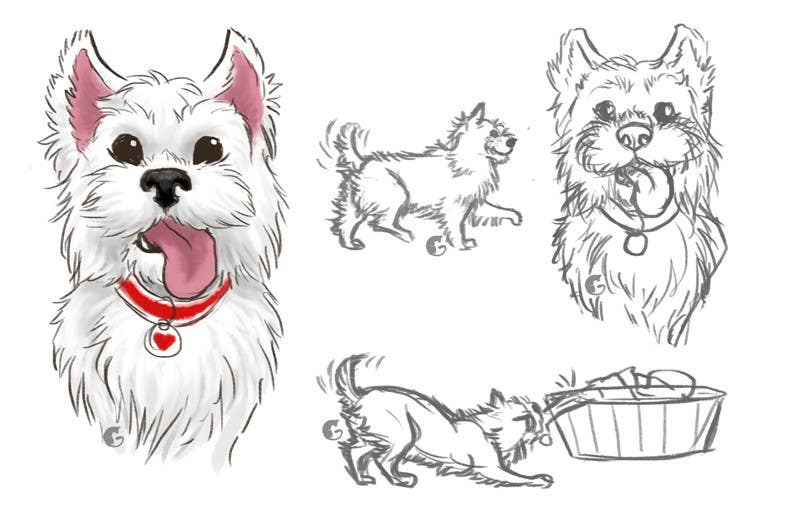 Inscrição nº 30 do Concurso para crreate a cartoon illustration of my dog for a childrens book
