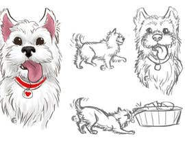 #30 for crreate a cartoon illustration of my dog for a childrens book by mlgibson