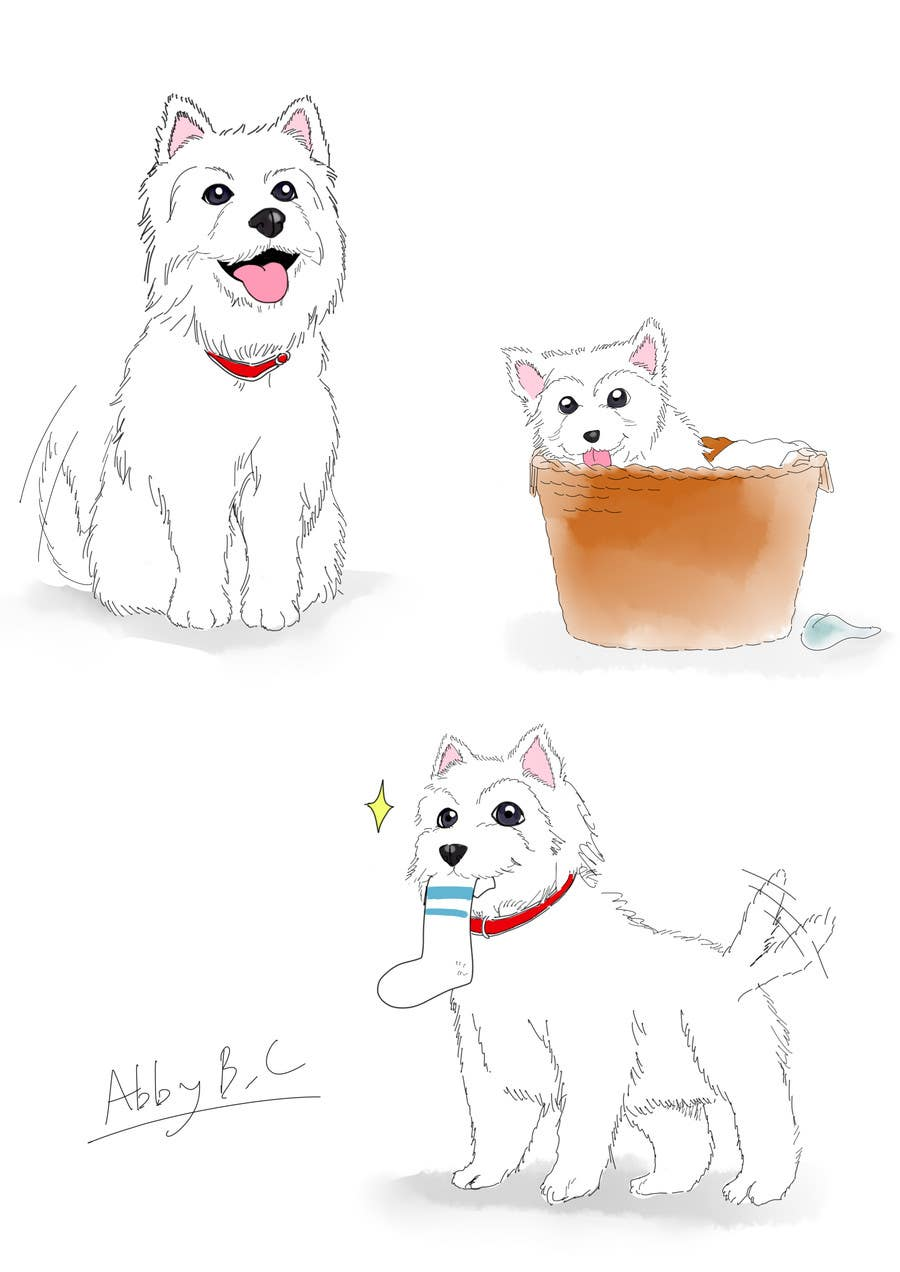 Inscrição nº 33 do Concurso para crreate a cartoon illustration of my dog for a childrens book