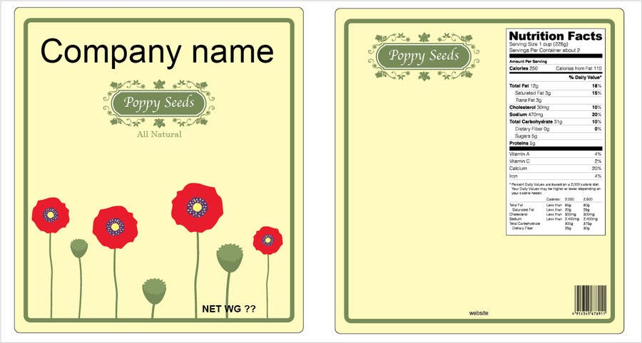 #2 for Create Print and Packaging Designs for a Pack of Poppy Seeds by tianhai