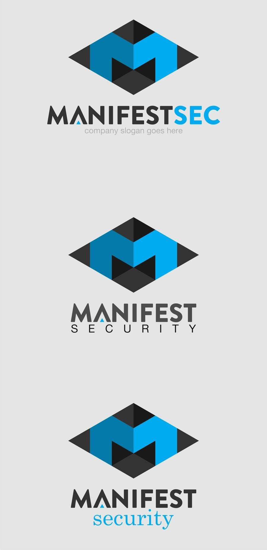 """""""Manifest Security"""" Logo için 22 numaralı Yarışma Girdisi"""