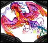 Contest Entry #1 for Looking for someone, who can draw a phoenix in spectral colours for profile picture