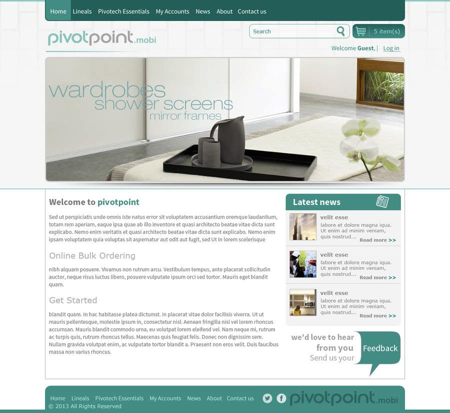 #16 for Design a Website Mockup for revitalization of our B2B customer resource by tania06