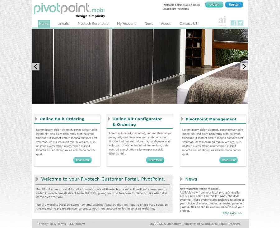 #15 for Design a Website Mockup for revitalization of our B2B customer resource by ibrahimnassar
