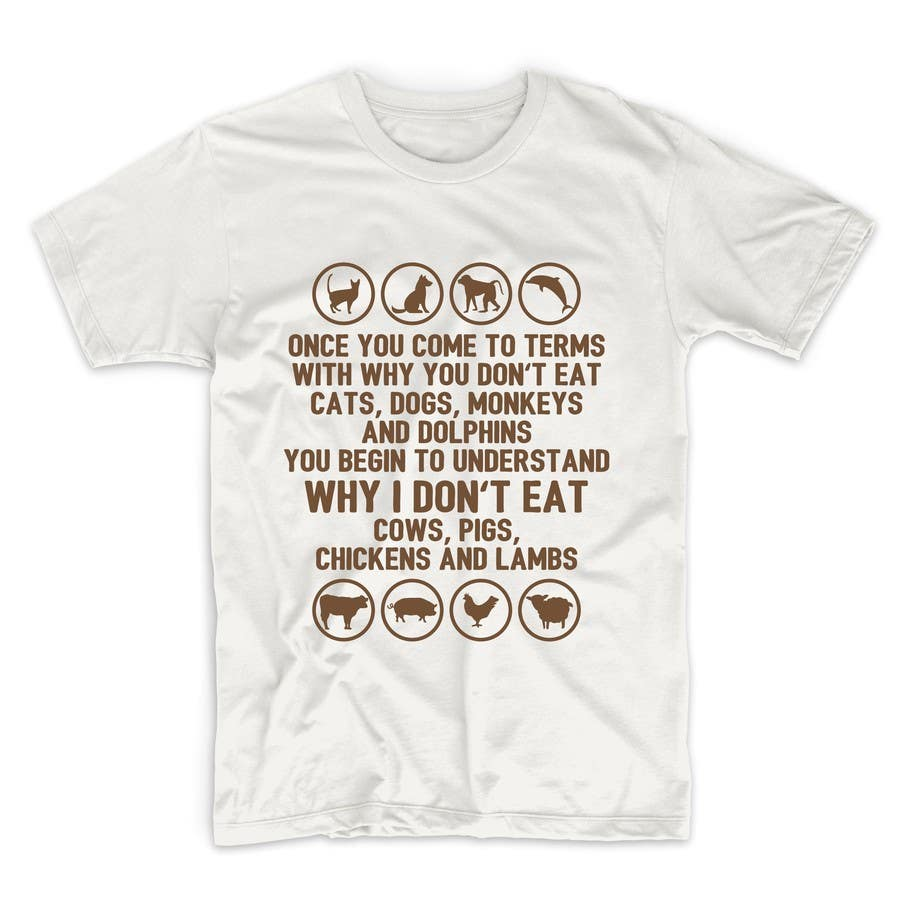 Shirt design needed -  14 For High Quality T Shirt Design Needed For Vegans By Adstyling