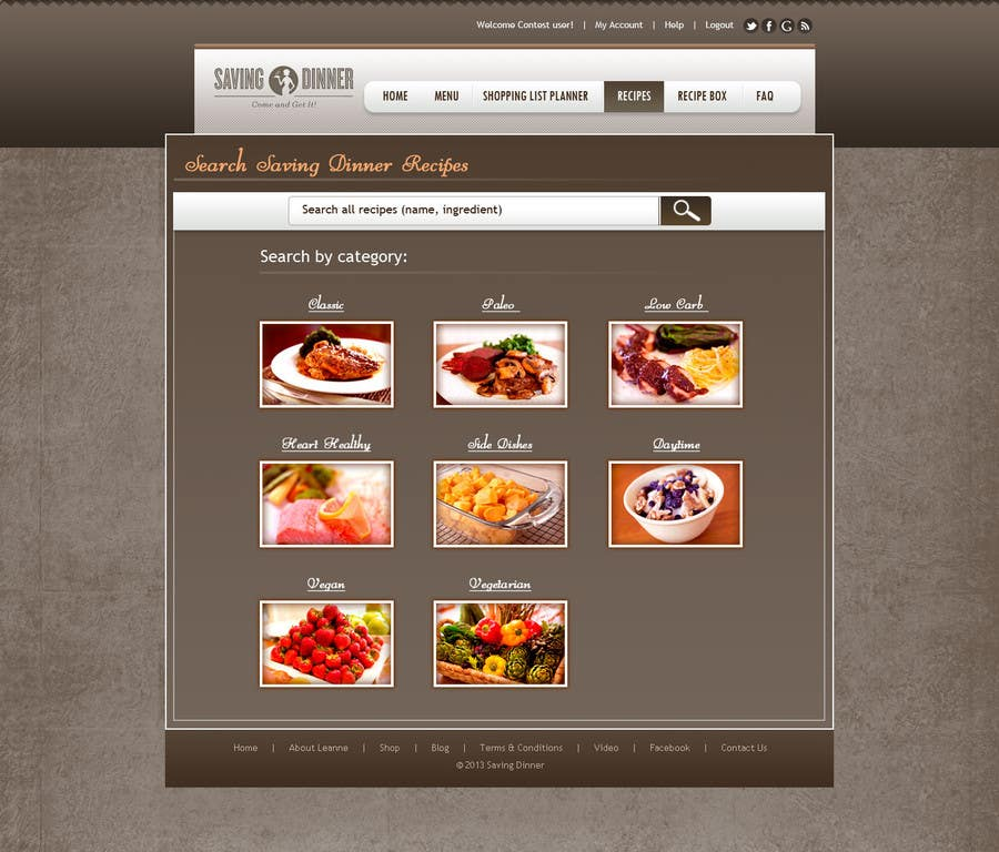 #21 for Design a Website Mockup for our Premium Menu-Mailer website. by aryamaity