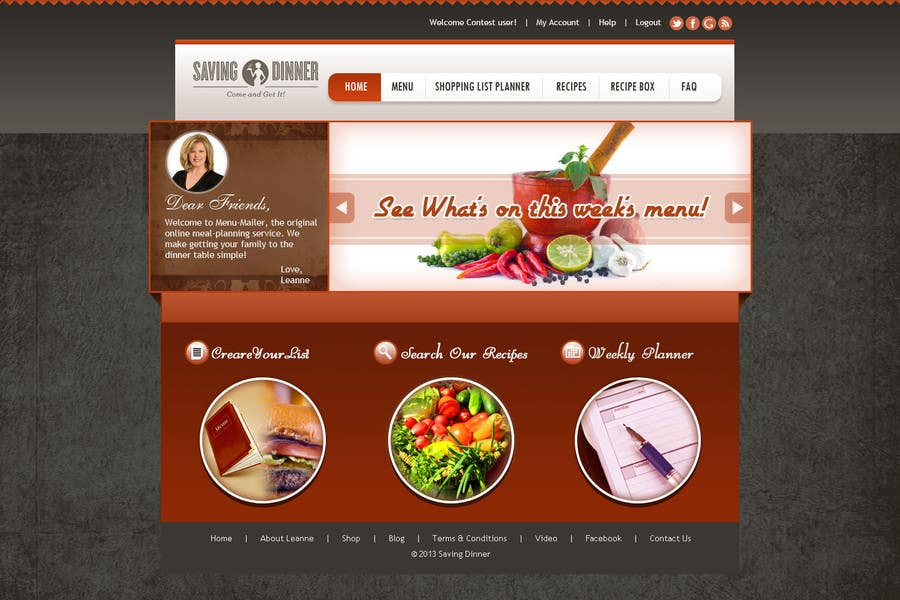 #36 for Design a Website Mockup for our Premium Menu-Mailer website. by aryamaity