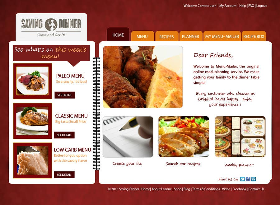 #1 for Design a Website Mockup for our Premium Menu-Mailer website. by HBPC