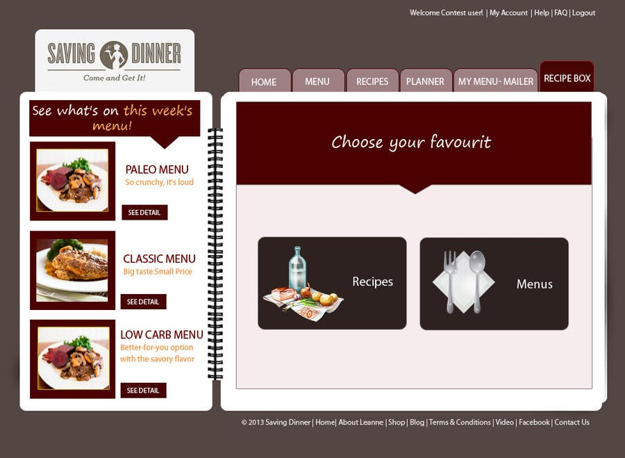 #28 for Design a Website Mockup for our Premium Menu-Mailer website. by HBPC