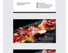 #140 para Design a Logo/Business Card for an Executive Chef por MaxDesigner