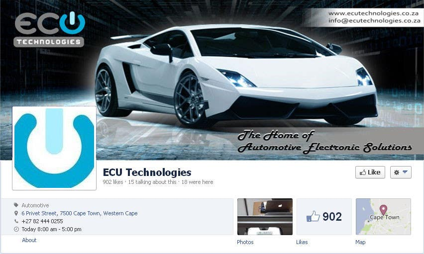 #21 for Design a Facebook landing page for ECU Technologies by RockStar95