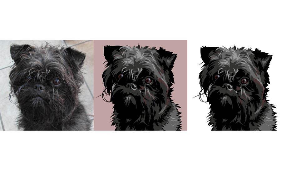 #13 for Affenpinscher dog converted to Pop Art by elenabsl