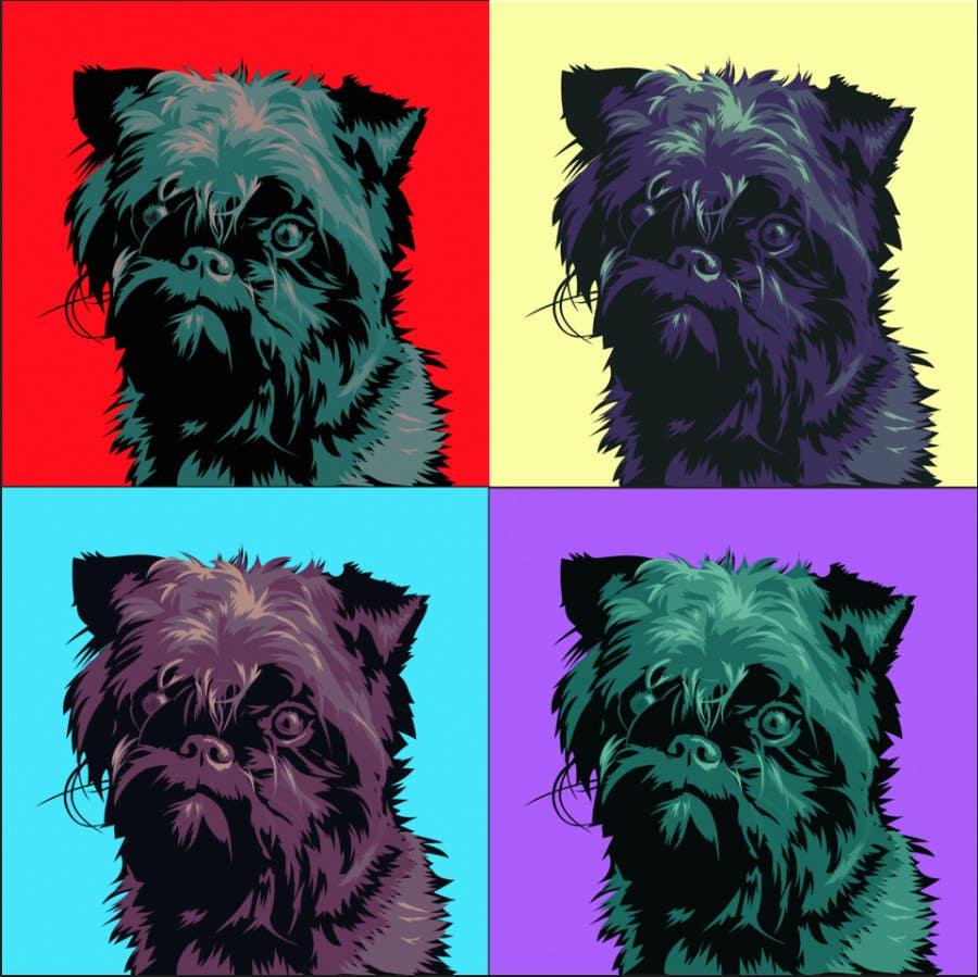 #18 for Affenpinscher dog converted to Pop Art by elenabsl