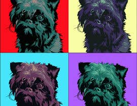#18 for Affenpinscher dog converted to Pop Art af elenabsl