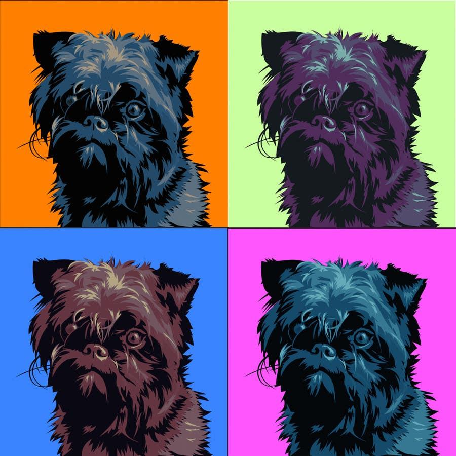 #19 for Affenpinscher dog converted to Pop Art by elenabsl