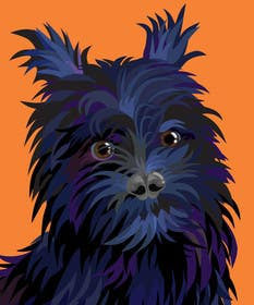 #14 for Affenpinscher dog converted to Pop Art by sophialotus