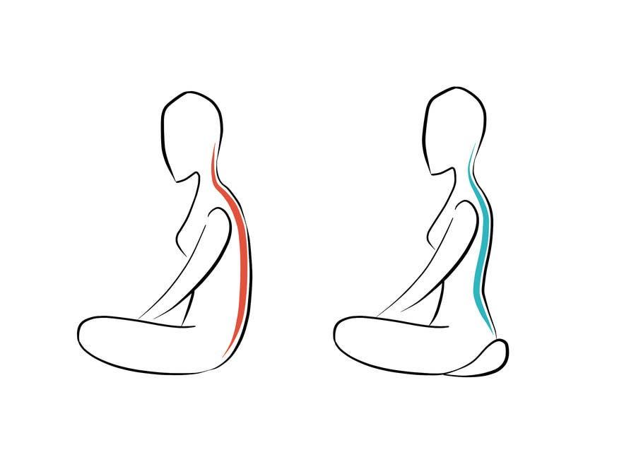 Contest Entry #                                        19                                      for                                         Good vs Bad Meditation Posture - 2 illustrations