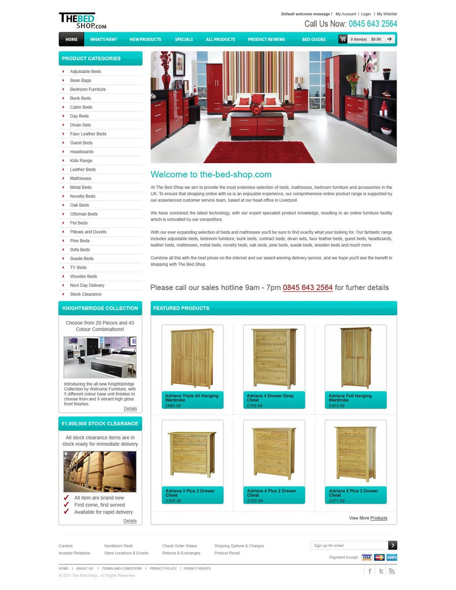 Proposition n°31 du concours Website Design for The Bed Shop (Online Furniture Retailer)