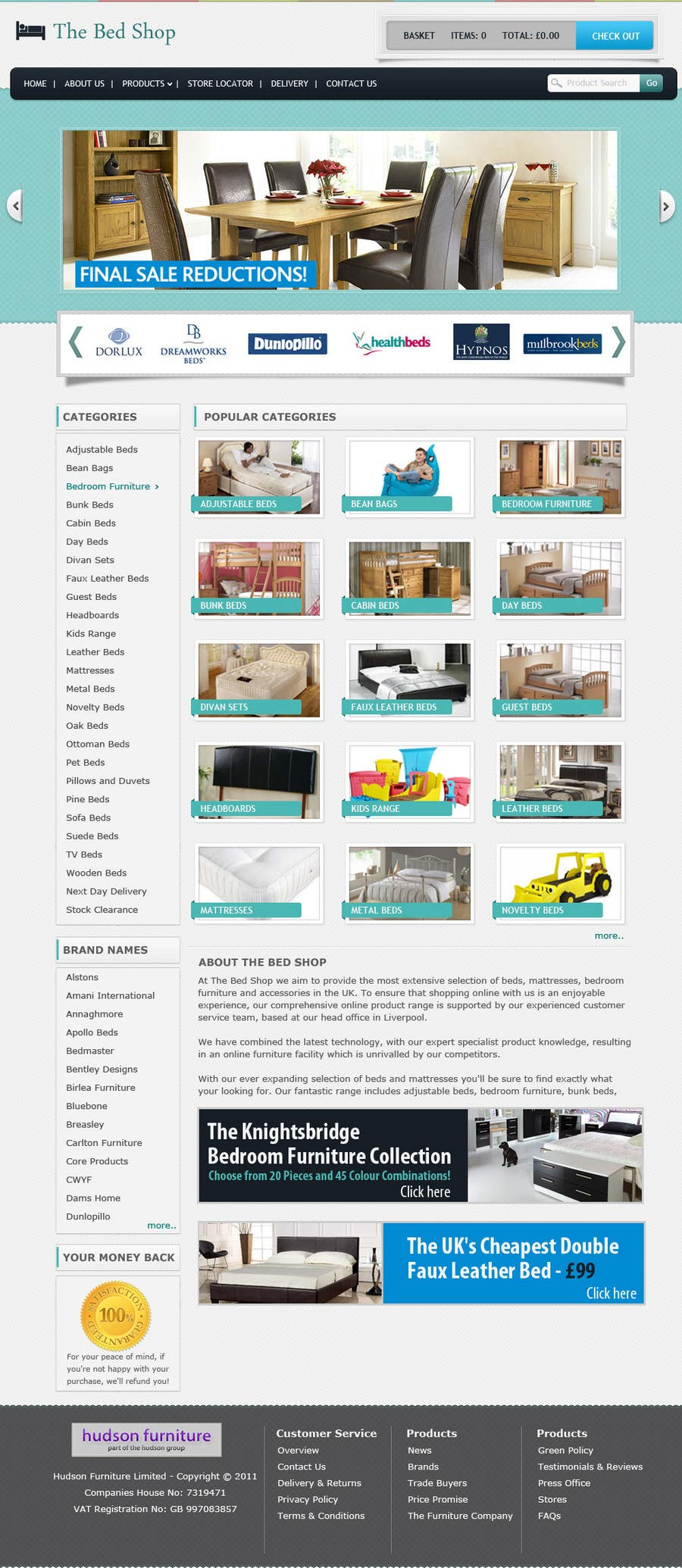 #8 for Website Design for The Bed Shop (Online Furniture Retailer) by csschimp