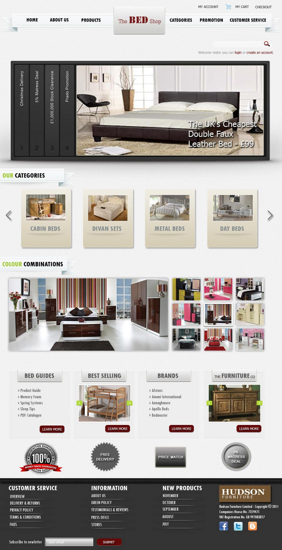 Proposition n°25 du concours Website Design for The Bed Shop (Online Furniture Retailer)