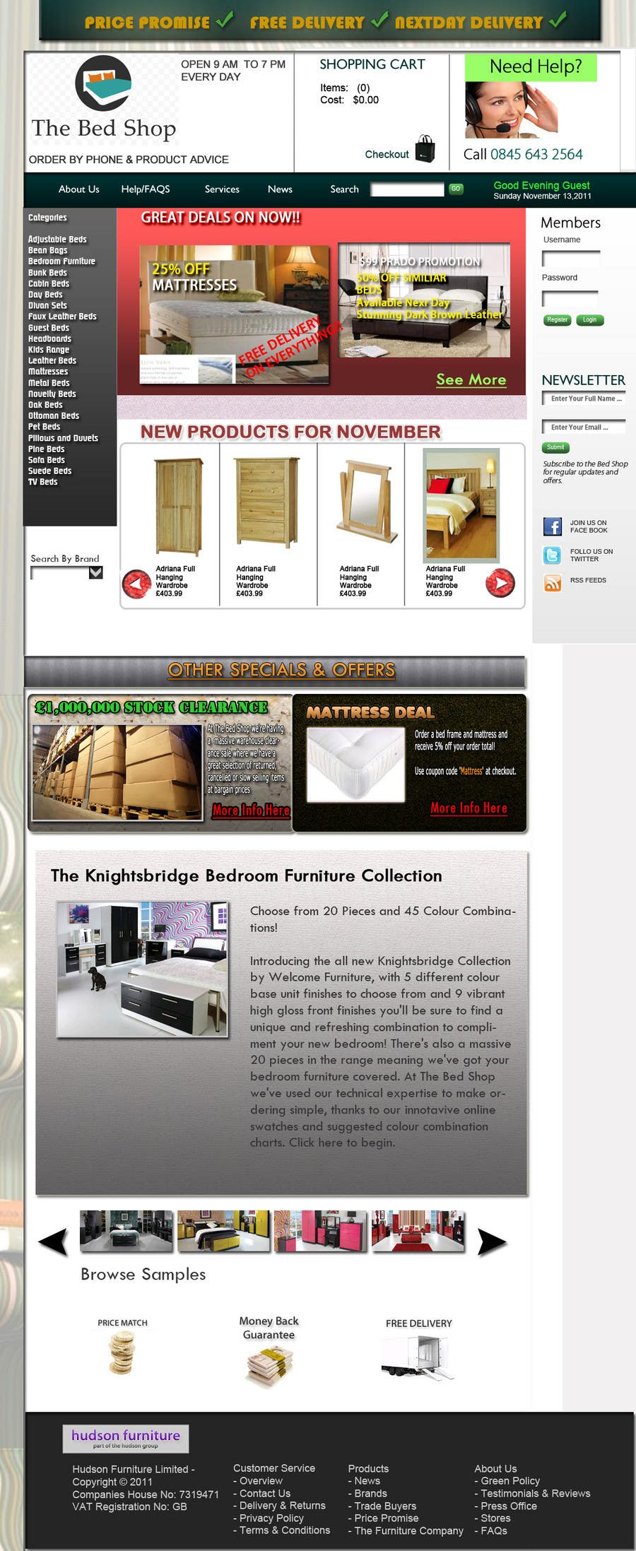 Конкурсная заявка №63 для Website Design for The Bed Shop (Online Furniture Retailer)