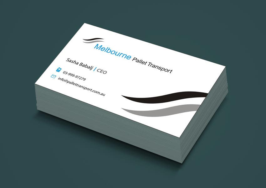 #2 for Design some Business Cards for Melbourne Pallet Transport by suneshthakkar