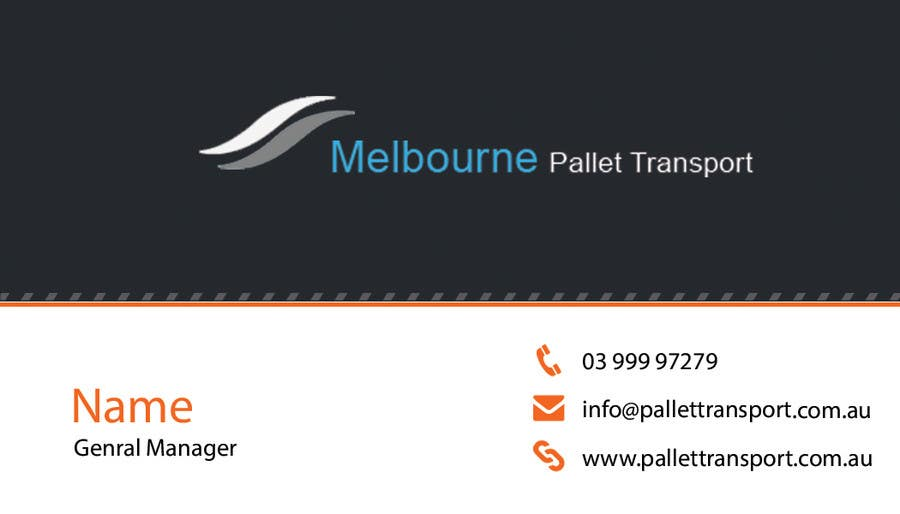 #24 for Design some Business Cards for Melbourne Pallet Transport by preethyr