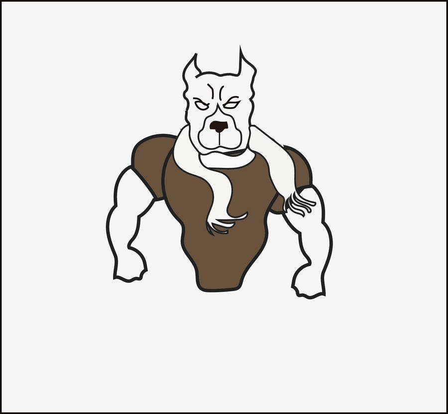 Entry 32 By Aam90 For Pit Bull Terrier Two Color Logo For