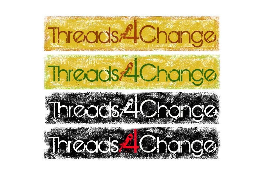 Kilpailutyö #157 kilpailussa Logo Design for Threads4Change