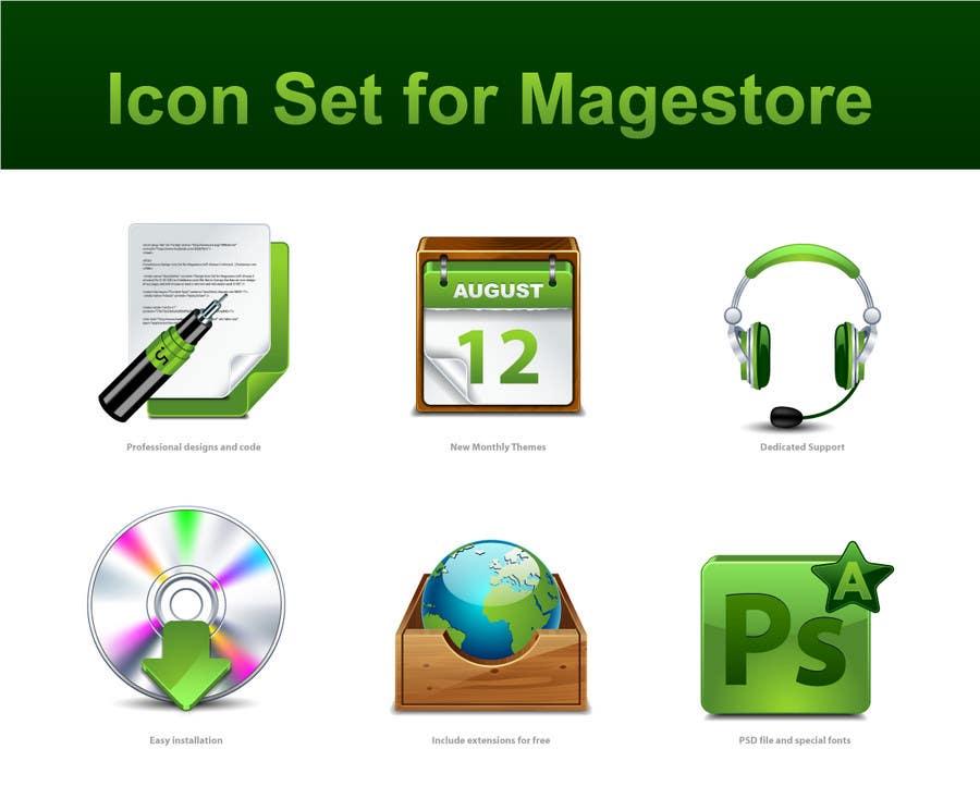 Kilpailutyö #                                        48                                      kilpailussa                                         Design Icon Set for Magestore (will choose 3 winners)