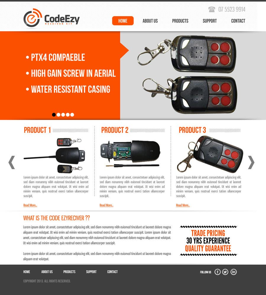 #41 for Design a Website Mockup for Garage door accessories company by dilip08kmar