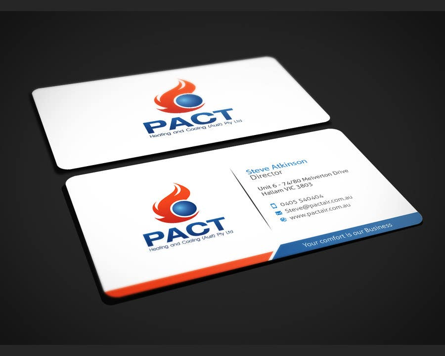 Entry #4 by dnoman20 for Design some Business Cards for HVAC ...