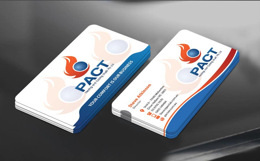 Entry #176 by mamun313 for Design some Business Cards for HVAC ...