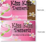 Graphic Design Kilpailutyö #11 kilpailuun Business Card Design for Kiss Kiss Desserts