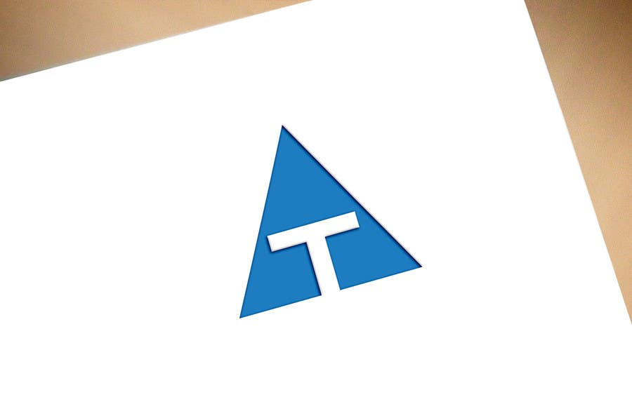 """Contest Entry #100 for Design a Logo with only 2 letters """"AT"""" / must be to cutting out"""